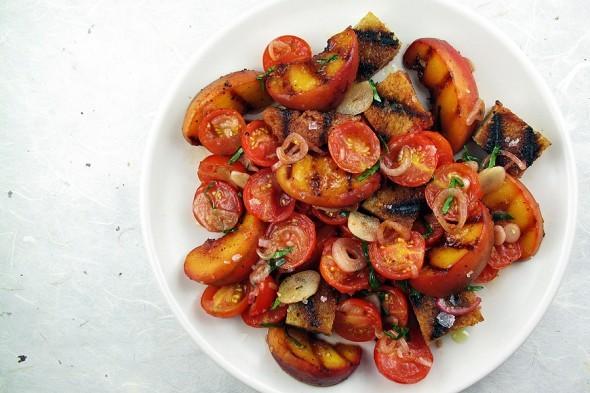 Grilled Peach Panzanella Recipe