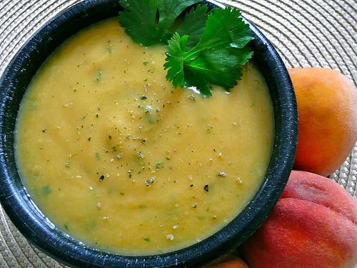 Peach Cucumber Gazpacho Soup Recipe