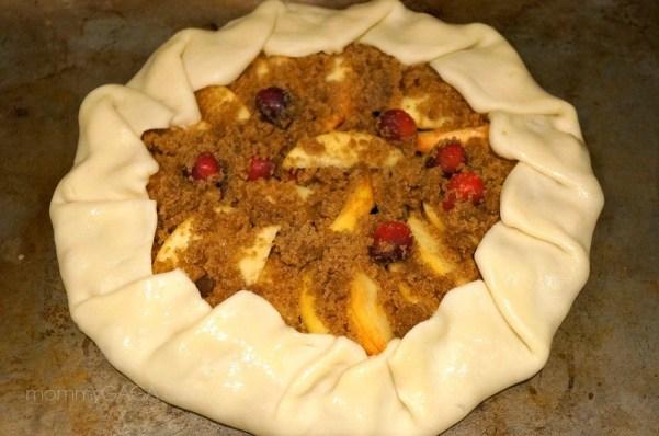 Apple Cranberry Tart ready for baking