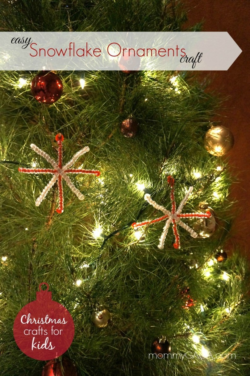 Homemade Snowflake Ornaments With Beads - Easy Christmas Crafts for Kids!