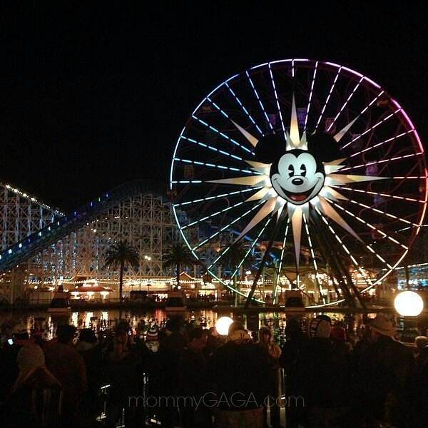 Mickey Mouse Ferris Wheel. the best time to go to Disneyland California Adventure