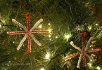 Homemade Snowflake ornaments craft for Christmas