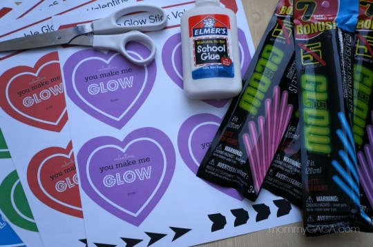 How to make Cupid's glow stick Valentine hearts