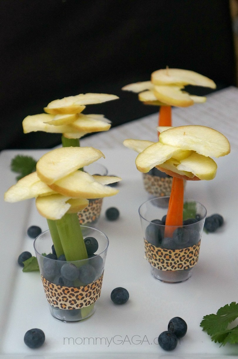 Jungle Party Food Ideas, Jungle Fruit and Veggie Trees