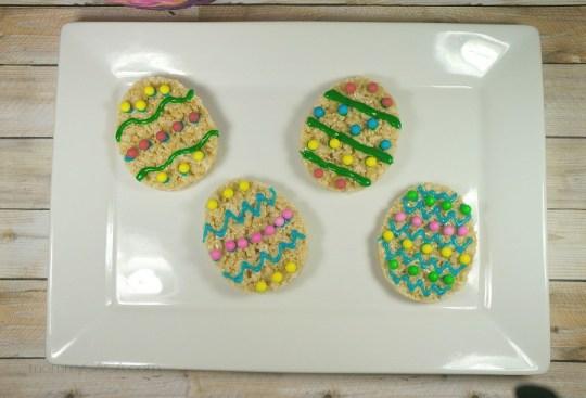 Easter Egg Rice Krispies Treat Cookies