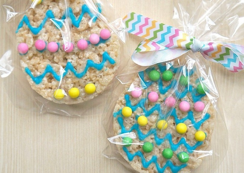 Homemade Easter Rice Krispies Treats Cookies
