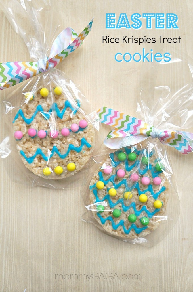Handmade Easter Rice Krispies Treat Cookies