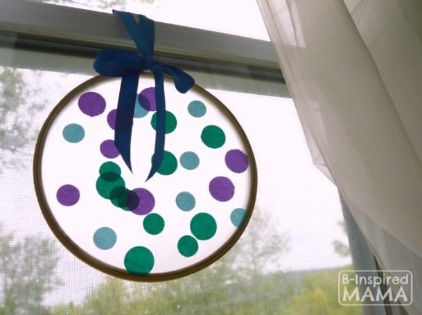 Circles Suncatcher Summer art projects