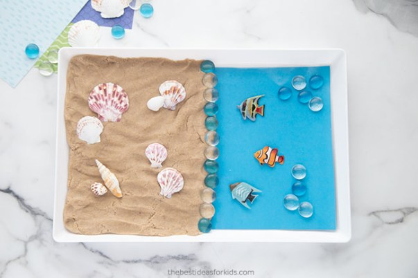 Sand Playdough Sensory Play