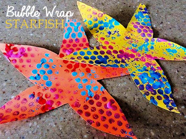 bubble wrap starfish craft