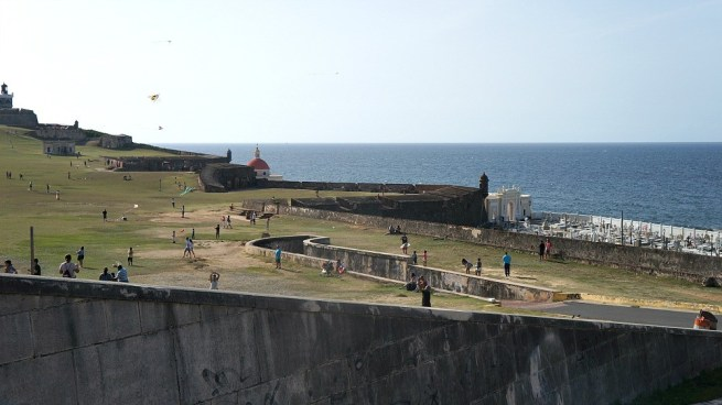 Old San Juan pictures - Cemetery and Grass Area, Puerto Rico