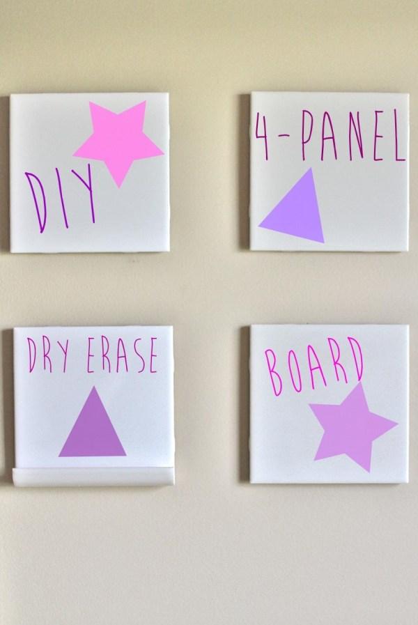 DIY dry erase white board tiles craft
