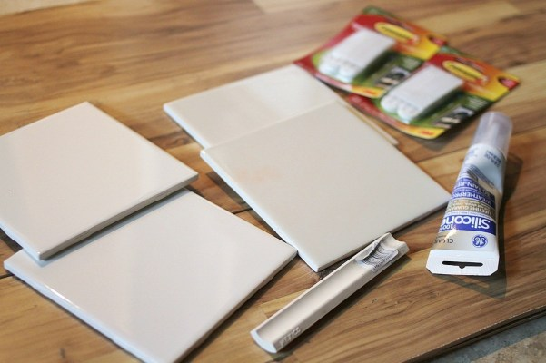 supplies to make a DIY dry erase board