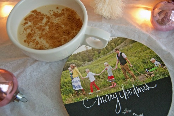 DIY Holiday Photo Coasters - How to make your own drink coasters for the coffee table
