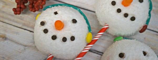 Snowman Snowballs - Snow themed snacks and holiday treats