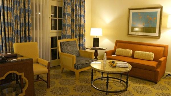 Hotel hacks to save money - Living area in suite rooms at Omni La Costa Resort