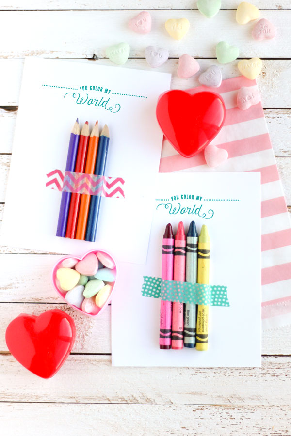 You Color My World Valentines, DIY Candy