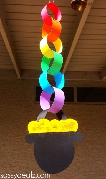 St Patricks day rainbow chain craft, Crafty Morning