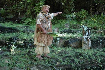 Highland Paradise cultural show sacred marae in mountain village
