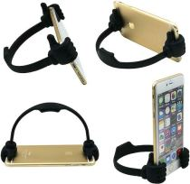 Flexible smartphone tablet holder for recipes