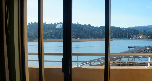 The Acqua Hotel, view of Richardson Bay from the second floor suites