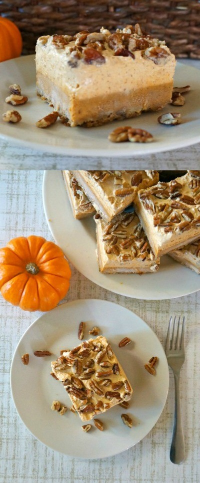 Easy Pumpkin Pie Bars with chiffon - Love This Pumpkin Dessert, pumpkin pie bars are the best! pumpkin pie squares | easy pumpkin bars | easy pumpkin pie recipes | pumpkin spice recipes | cool whip pumpkin chiffon pie | best pumpkin pie recipe | honeyandlime.co