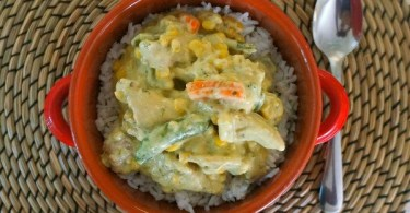 Thai Curry Chicken Skillet Dinner with Rice