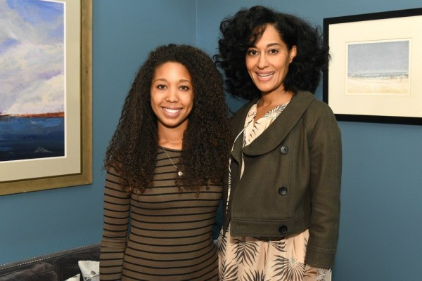 One the set of Black-ish with Tracee Ellis Ross - Deanna Underwood and Tracee Ellis Ross