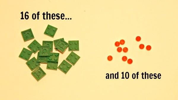 How to make a LEGO wreath photo ornament, you need these LEGO bricks