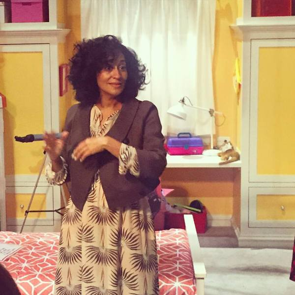Tracee Ellis Ross on the set of Blackish, Walt Disney Studios