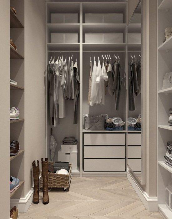Organized closet home