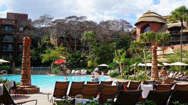 Disney's Animal Kingdom Lodge pool and hotel view