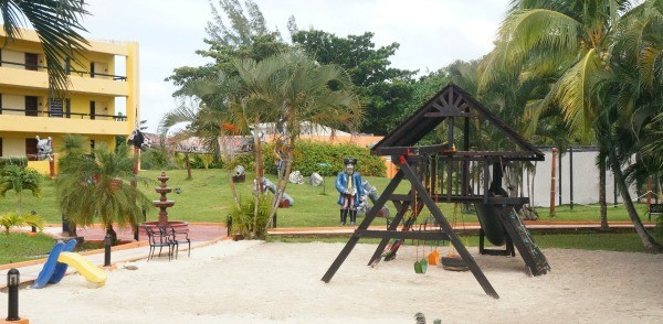 Kids pirate playground at MELIA Cozumel Resort