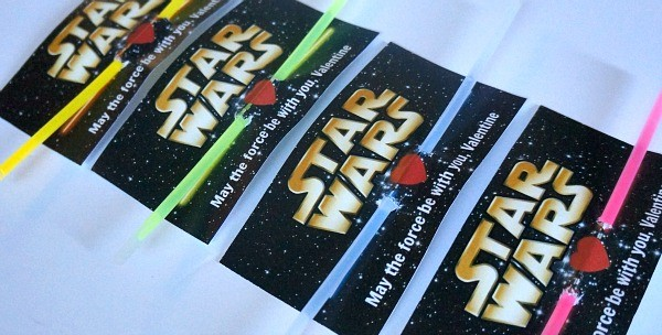 Print out free DIY Star Wars Valentines Day cards