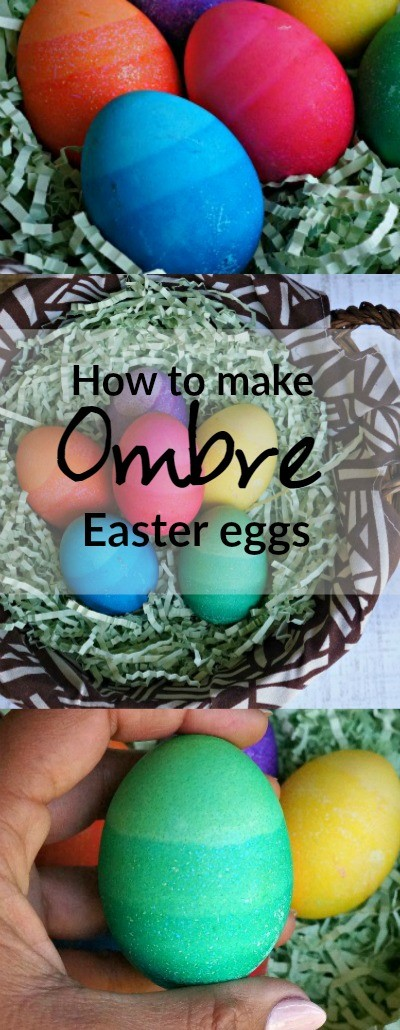 DIY Ombre Easter Eggs - learn how to make ombre eggs for Easter, love the bright colors!