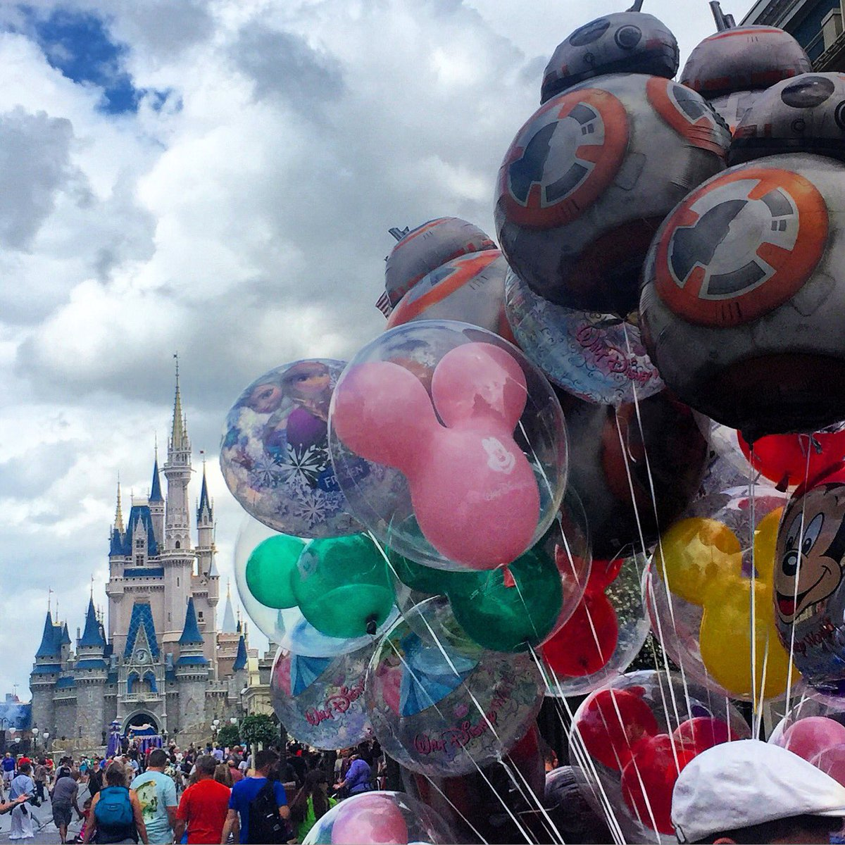 Disney's Magic Kingdom Theme Park, Disney balloons on Main Street USA