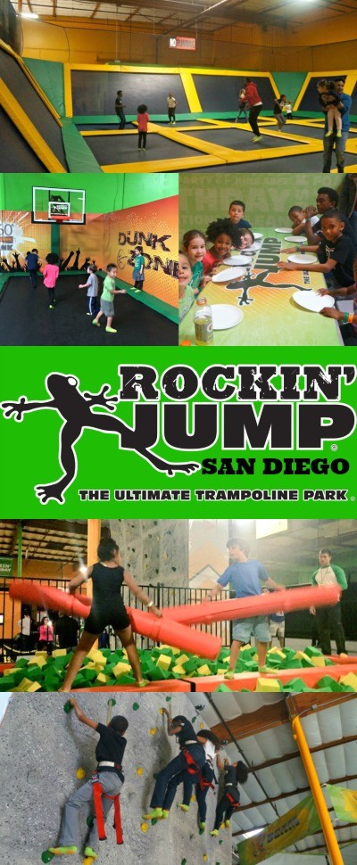 Have your San Diego birthday party at Rockin Jump, such a fun trampoline and adventure park for kids!