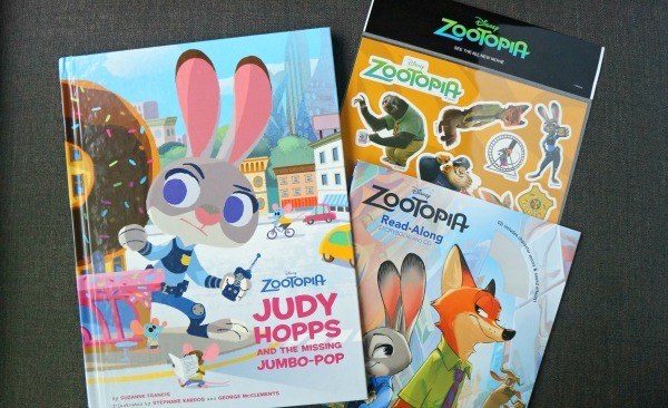 Zootopia books and stickers