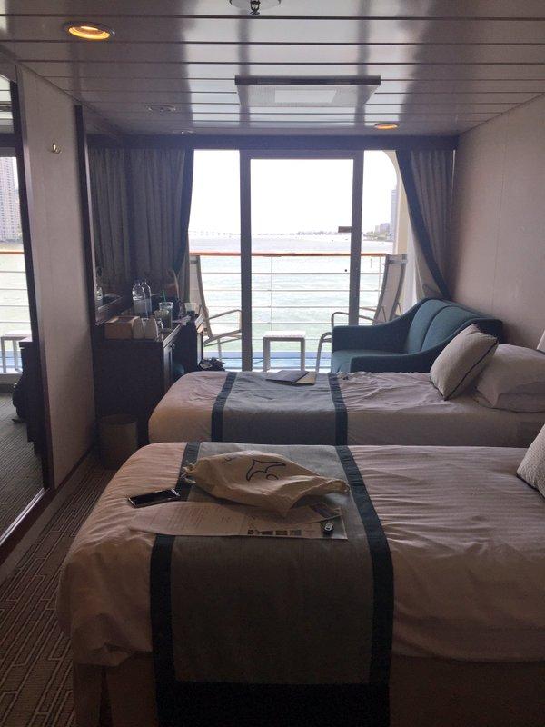 Fathom cruise Adonia ship stateroom with balcony B106
