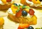 Fresh lemon fruit bruschetta recipe The perfect summer appetizer to try