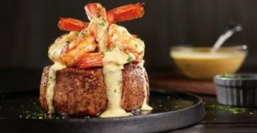 Outback Steakhouse Big Australia menu - Bearnaise jumbo shrimp topped Filet