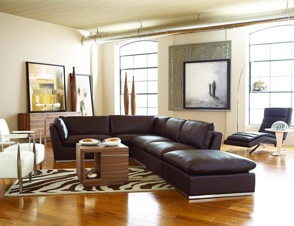 CORT furniture rental living room decor sectional sofa couch