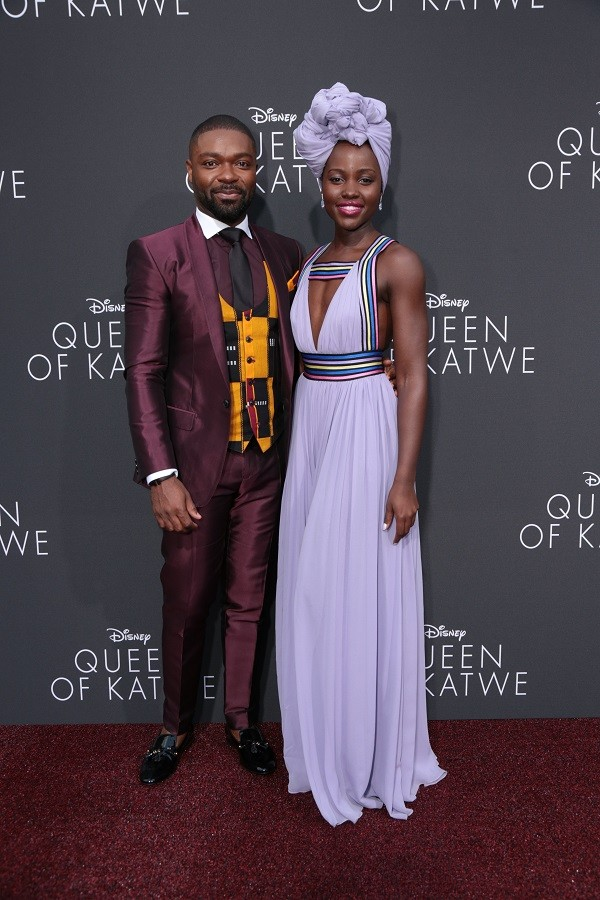 David Oyelowo, Lupita Nyong'o arrive at the Disney's Queen of Katwe U.S. movie premiere at the El Capitan Theatre in Hollywood, CA on Tuesday, September 20, 2016. The film, starring David Oyelowo, Oscar winner Lupita NyongÕo and newcomer Madina Nalwanga, is directed by Mira Nair and opens in U.S. theaters in limited release on September 23, expanding wide September 30, 2016...(Photo: Alex J. Berliner/ABImages)