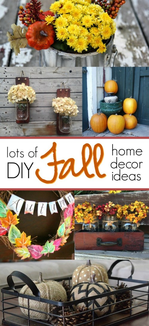 You will LOVE these DIY fall home decor ideas, so easy and so cute to pull these off! Find autumn decor inspiration for the living room, mantle, porch, walls, and more