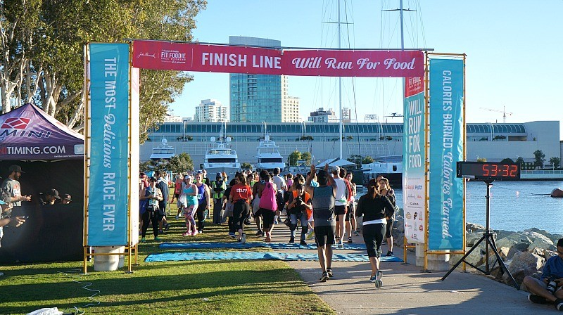 Steps to maintain a healthy lifestyle, finish line at the Fit Foodie Run