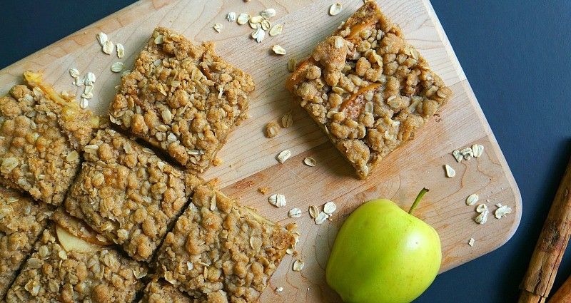 This apple oatmeal bars recipe is so good, if you like chewy oatmeal bars, you will love these for breakfast or dessert