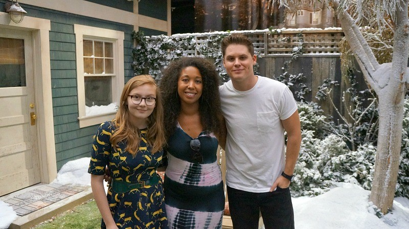 Visiting The Set and Meeting The Cast of The Real O'Neals, Actor Bebe Wood, Deanna Underwood, and Actor Matt Shively
