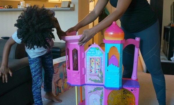 Building the The Barbie® Rainbow Cove™ Princess Castle Playset