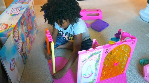 The Barbie® Rainbow Cove™ Princess Castle Playset, putting the castle together