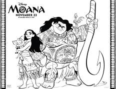 Disney's MOANA coloring pages 1